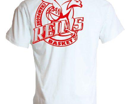 T-shirt coton blanc logo rouge