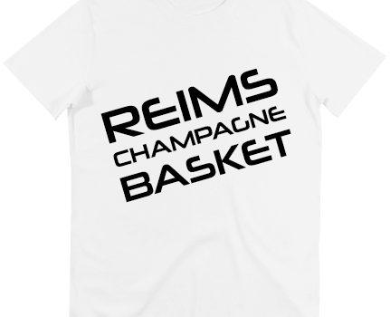 T-shirt coton blanc logo RCB noir