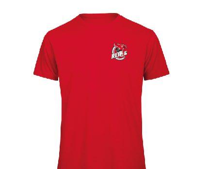 T-shirt coton rouge logo poitrine