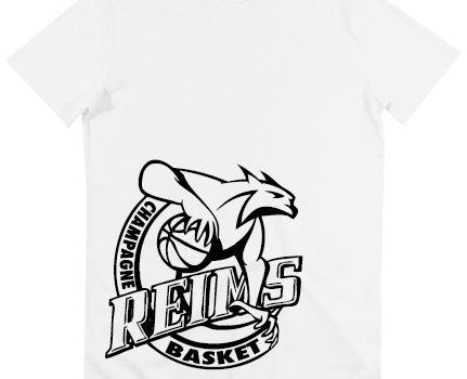 T-shirt respirant blanc logo noir