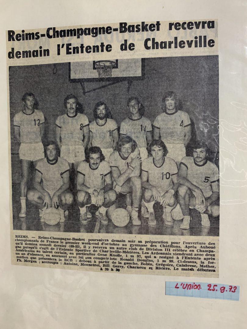 RCB Premiere equipe 1973