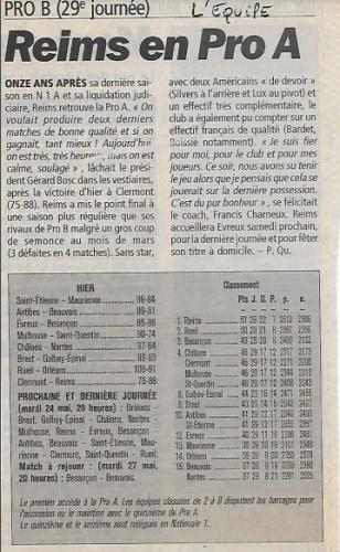 RCB - Montée PROA - 2002